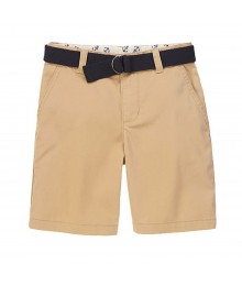 Gymboree Khaki Twill Shorts Wt Black Belt