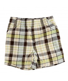 Jumping Beans Plaid Shorts Brwn/Grn