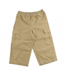 Faded Glory Khaki Woven Pull On Pants
