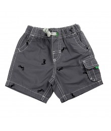 Carters Grey Cargo Shorts Bike Print