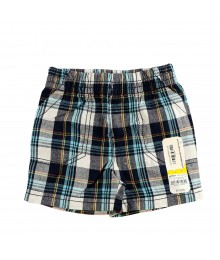 Jumping Beans Navy Plaid Boys Shorts