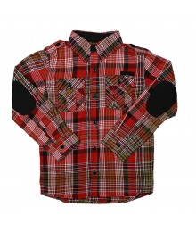 Sean John Red/White/Black Plaid Boys Shirt