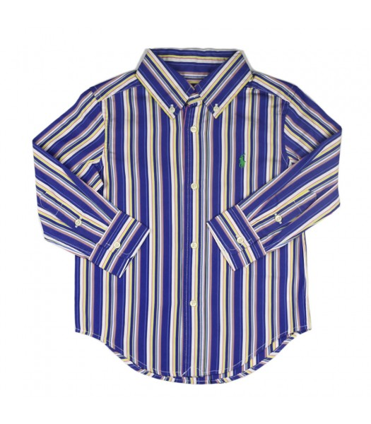 Polo Blue Multi Stripped Long Sleve Shirt