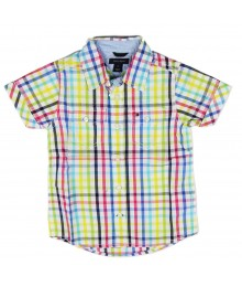 Tommy Hilfiger Multi Colour Short Sleeve Boys Plaid Shirt