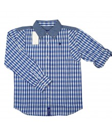 Lrg Aqua Long Sleeve Plaid Shirt
