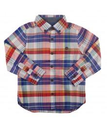 Ted Baker Red Multi Long-Sleeve Plaid Boys Shirt Little Boy