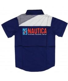 Nautica Admiral Blue South Pacific Boys Shirt