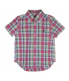 Ralph Lauren Pink Multi Plaid Short Sleeve Boys Shirt
