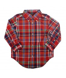 Polo Red Multi Plaid L/Sleeve Shirt