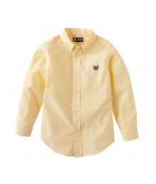 Chaps Yellow Solid Oxford L/S Shirt Little Boy