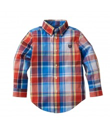 Chaps Red/Blue/Yellow Multi Plaid L/S Shirt