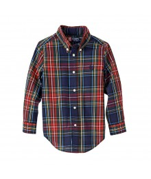 Chaps Red/Green/Navy Multi Plaid L/S Shirt