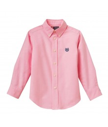 Chaps Pink Solid Oxford L/S Shirt Little Boy