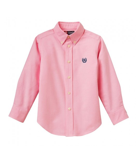 Chaps Pink Solid Oxford L/S Shirt