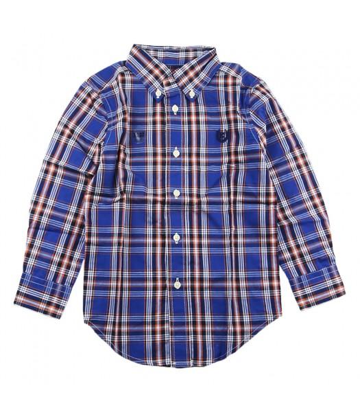 Chaps Blue/Orange/Navy Plaid L/S Shirt