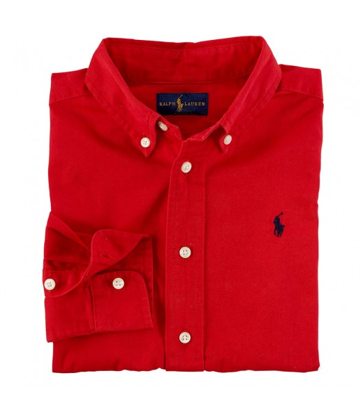 Polo Red L/Sleeve Shirt Wt Small Pony