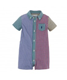Ralph Lauren Multi Colored Checkered Shortall