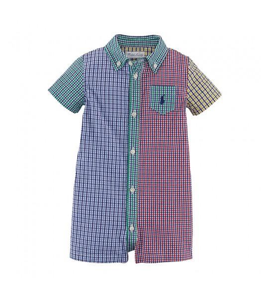 Ralph Lauren Multi Colored Checkered Shortall