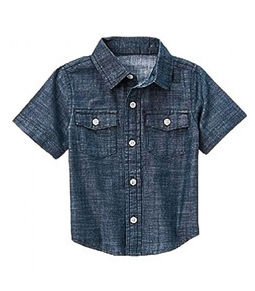 Crazy8 Dark Wash Denim Chambray Shirt