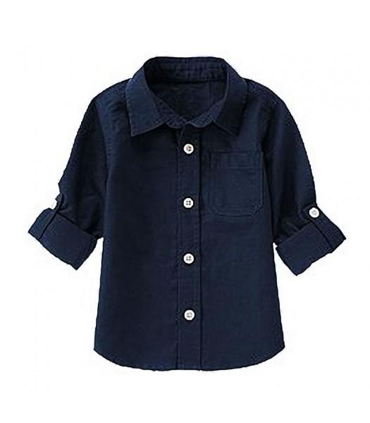 Crazy8 Navy Linen L/S Shirt