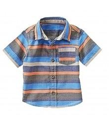 Crazy8 Blue/Black/Orange Stripped Shirt