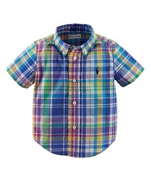 Ralph Lauren White Multi Colored S/S Shirt