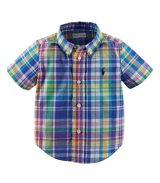 Ralph Lauren White Multi Colored S/S Shirt