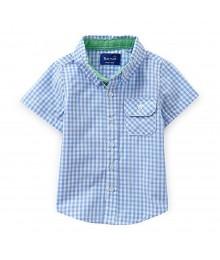 Beetle&Thread Blue/White Checkered S/L Shirt
