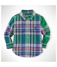 Polo Green Multi Colored Plaid L/S Shirt