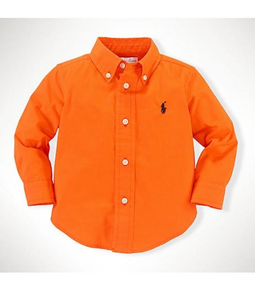 Polo Orange L/Sleeve Poplin Boys Shirt Wt Little Pony