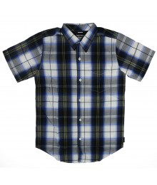 Nautica - Navy Plaid Short Sleeve Shirt