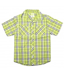 Crazy8 Neon Yellow Plaid Shirt Little Boy