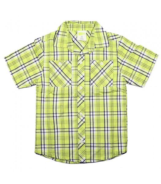 Crazy8 Neon Yellow Plaid Shirt