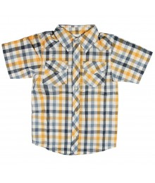 Crazy8 Grey/Orange Plaid Shirt