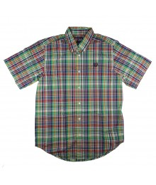 Chaps Green/Yellow/Red/Navy Plaid S/Sleeve Shirt