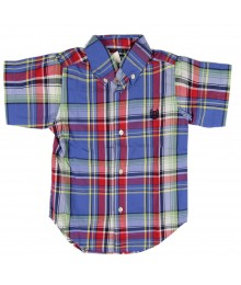 Chaps Blue Multi Plaid Woven Shirt