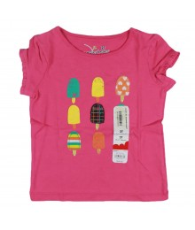 Jumping Beans Pink Girls Tee With Ice Cream Treat