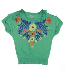 Mudd Green Banded Top