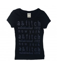 Abercrombie Black With Shimmer Writings Big Girl
