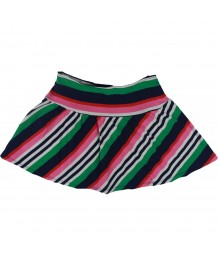 Gymboree Pink/Green Diagonal Striped Skort