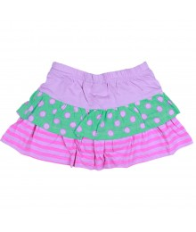 Jumping Beans Pink/Peach Dotted/ Tiered Skort Baby Girl