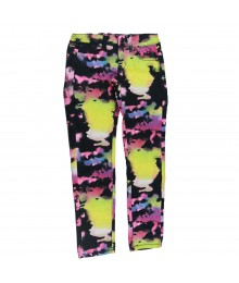 Justice Black/Neon Yellow/Purple Prit Skinny Jeans Big Girl