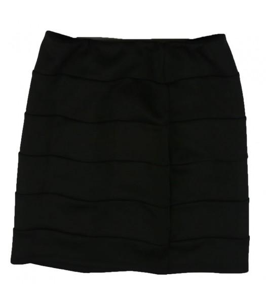 Amy Byer Black Banded Skirt