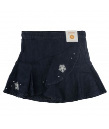 Gymboree Gem Snowflake Ruffle Denim Skort Little Girl