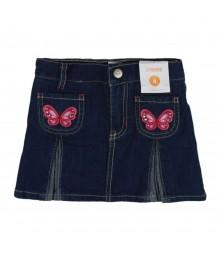 Gymboree Gem Butterfly Pleated Denim Skort