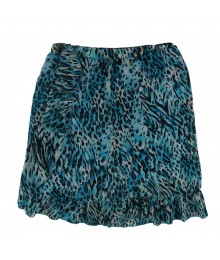 Amy Byer Turq Animal Print Chiffon Ruffled  Skirt