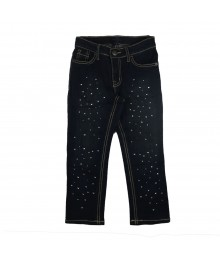 Childrens Place Blue Blue Jeans With Rhinestones Little Girl