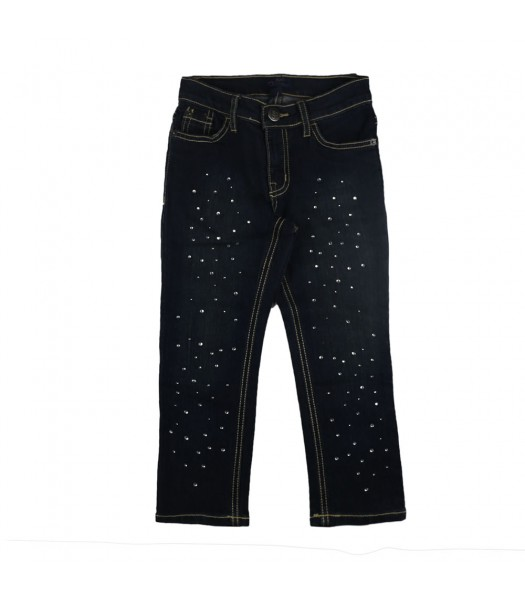 Childrens Place Blue Blue Jeans With Rhinestones