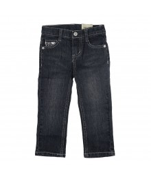 Arizona Blue Girls Jeans With Silver Embd N Seqd