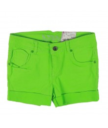 Total Girl Neon Green Girls Shorts Big Girl